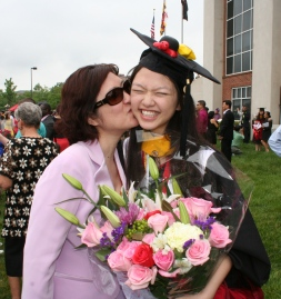 Mom and I on graduation day