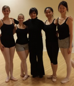 My ballet classmates, instructor, and myself on the right.