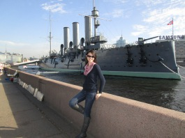 Neva River battleship (St. Petersburg)
