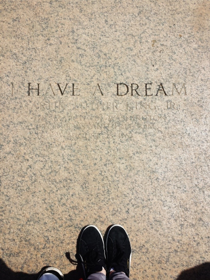 "The spot where Dr. King stood as he delivered ""I Have a Dream"""