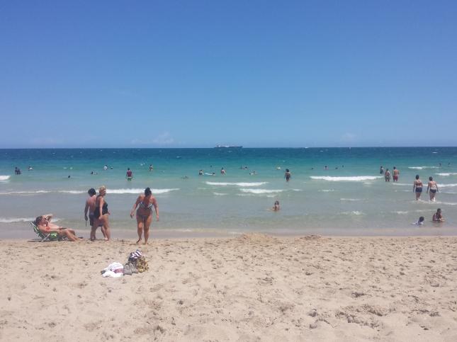 Blue skies, blue seas, sandy beaches...