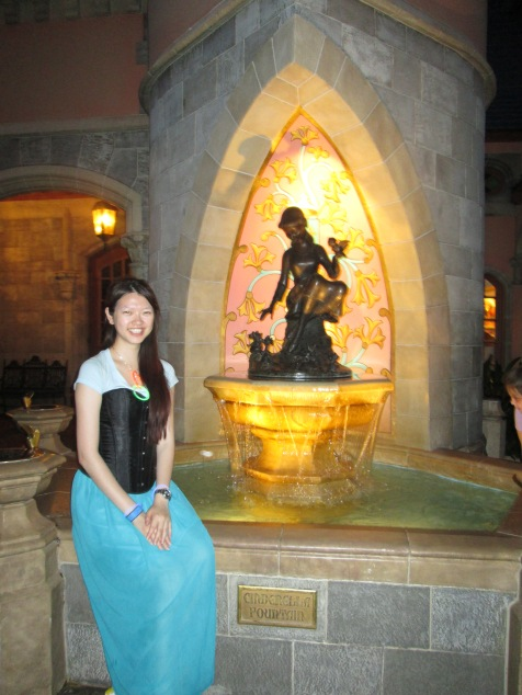 With Cinderella but it's a fountain so?