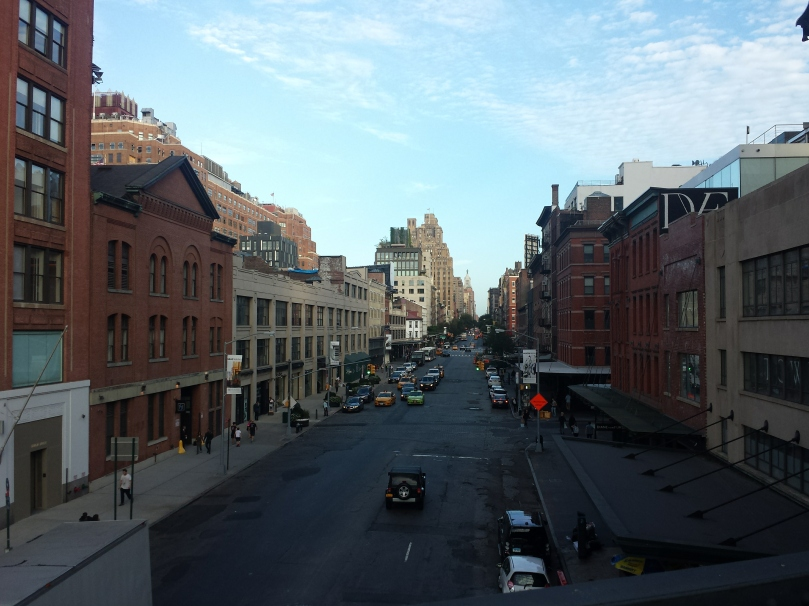 Above the streets, during the day for once! (I usually visit at night)