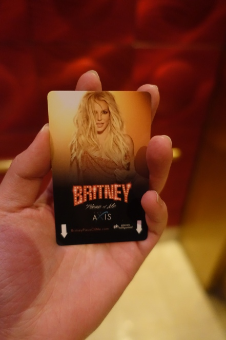 It's Britney! On my hotel keycard!
