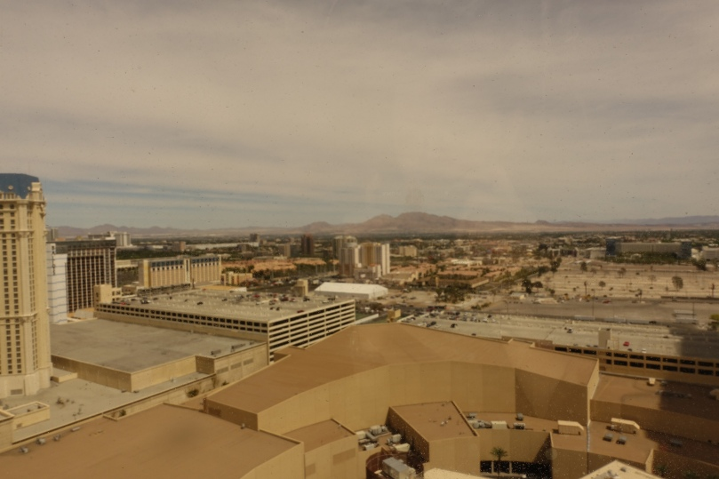 The view of the desert from our hotel