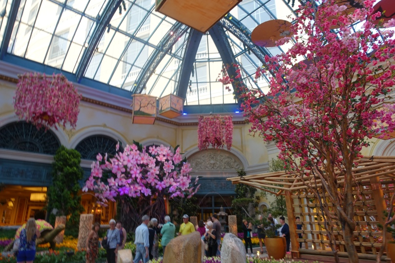 The Bellagio Conservatory is not to be missed! A beautiful garden oasis in the middle of the strip in the middle of the desert.