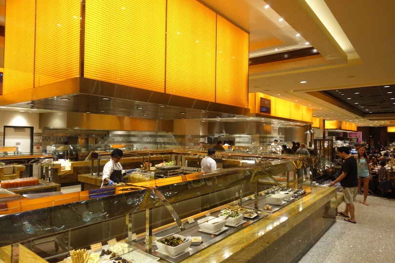 A view of the buffet