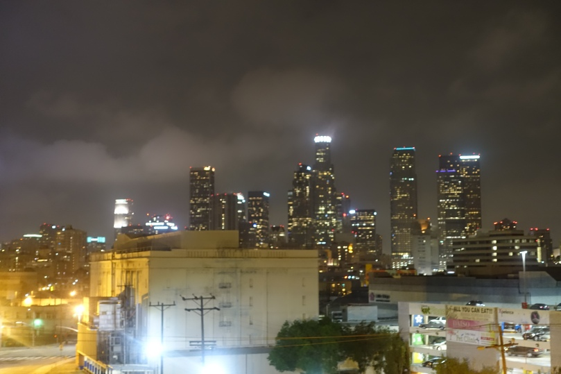 The view of downtown from the roof of our building
