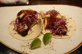 Pork belly tacos at Red Roost Tavern