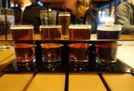 A flight of Moerlein's seasonal beers