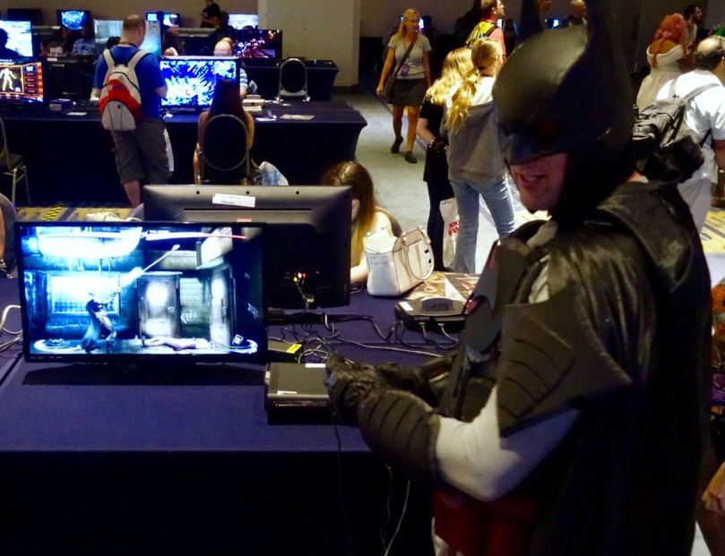 Batman playing video games