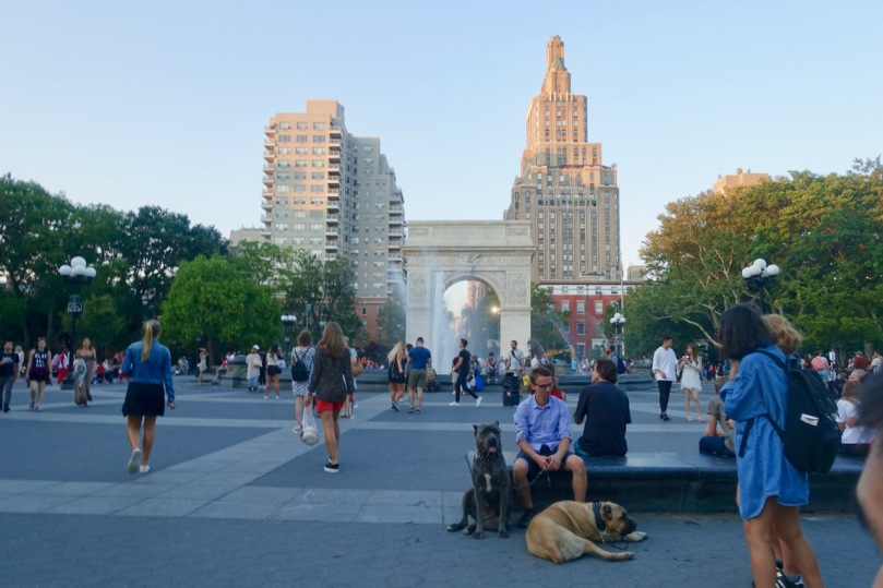 Washington Square on Labor Day