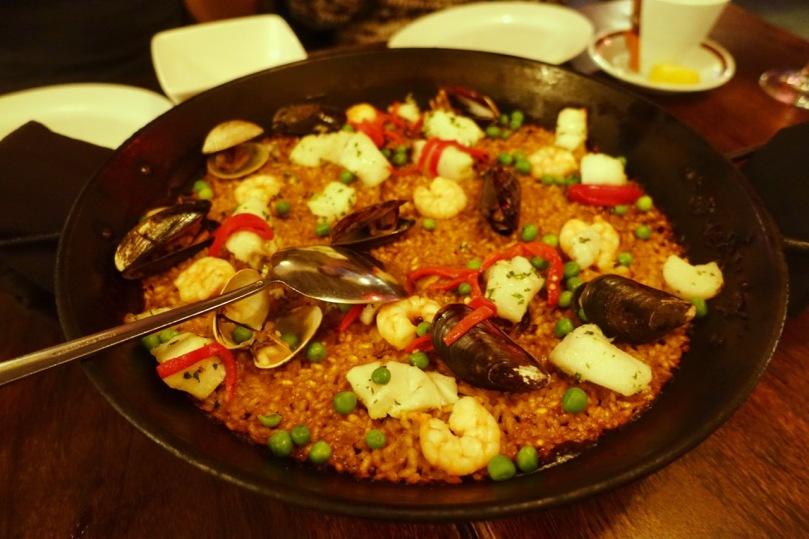 Seafood paella at Soccarat