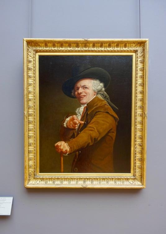 Portrait de l'artiste sous les traits d'un moqueur